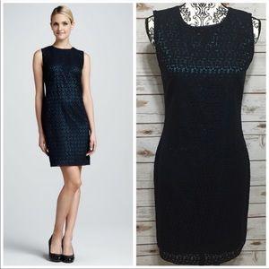 T Tahari Sleeveless Navy Blue Arbor Dress NET